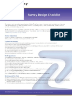 DS Survey Design Chklist