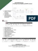 AutoCAD Electrical JIC Admin Course Syllabus Sample