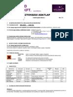 BB Manigel -Biztonsági adatlapja