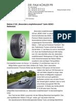 """Nokian Z G2 """"Besonders empfehlenswert"""" beim ADAC-Reifentest"""