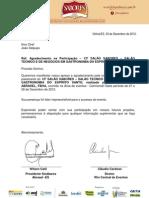 CARTA DE AGRADECIMENTO PALESTRANTE JOÃO DELPUPO