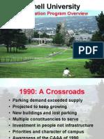 Cornell Transportation Program Overview, 1990-2005, by David Jay Lieb, July 2005