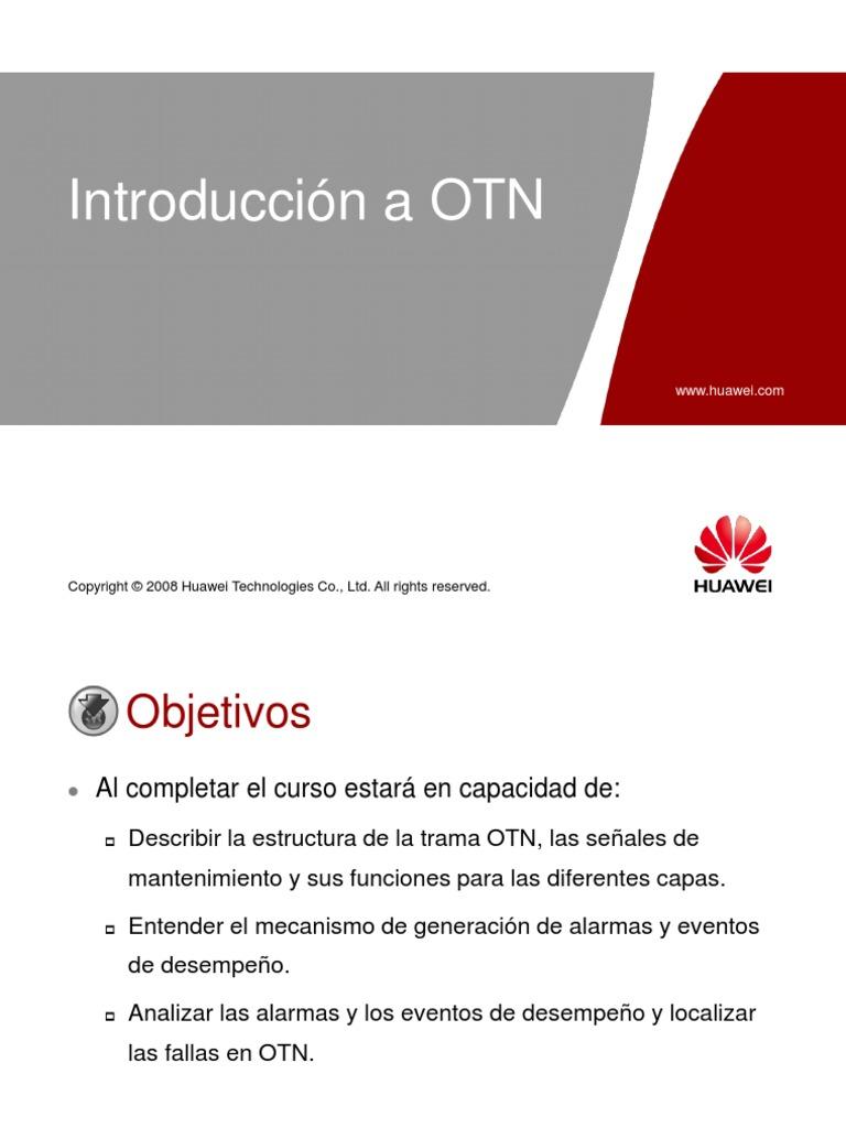 2. Introducción a OTN (lite)   Telecommunications Standards ...