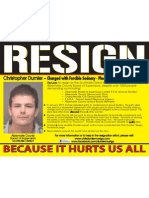 Dumler Resign Flyer
