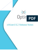 Release Notes for xWizard 8.2