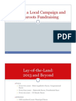 Running a Local Campaign and Grassroots Fundraising