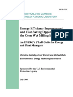 Energy Efficiency Improvement and Cost Saving Opportunities for the Corn Wet Milling Industry