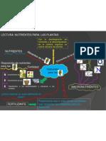 Mapamental de Nutrimentos de Las Plantas.