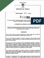 20de 2012 determina y reglamenta entrada en operación de la Administradora Colombiana de Pensiones- COLPENSIONES