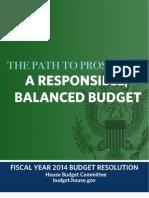 Ryan FY 2014 Budget
