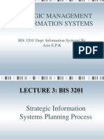 Strategic Mg of Info Sys Lecture 3