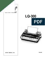 Epson LQ-300 Color Dot Matrix Service