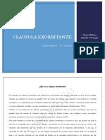Clausula Exorbitante