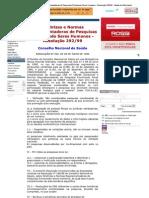 Resolução CNS 292-1999.