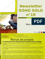 Newsletter Soho Solo n18 Mars09