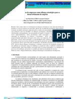 As incubadoras de empresas como alianças estratégicas para o desenvolvimento do negócio