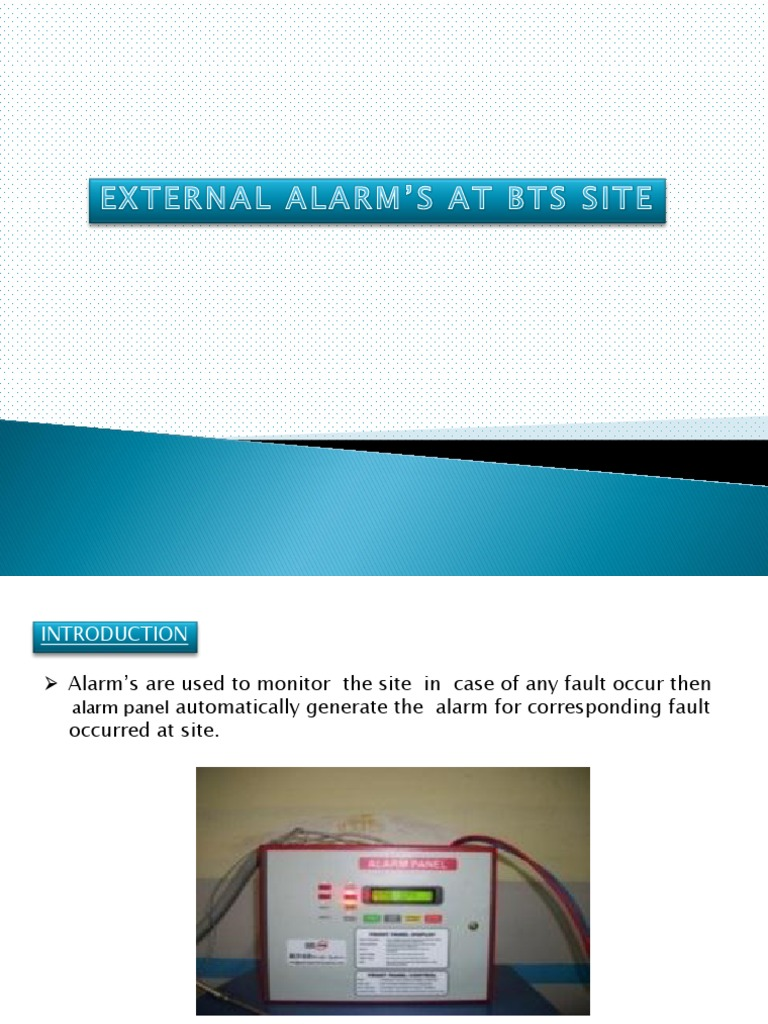 ALARM\'S AT BTS SITE.pptx