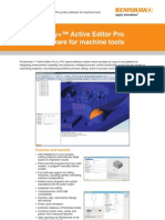 Productivity Active Editor Pro Probing Software for Machine Tools Data Sheet