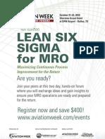 Lean six Sigma  Brochure Print