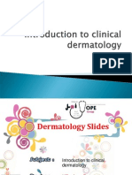 Dermatology Slides - Introduction to Clinical Dermatology