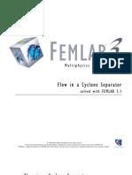 Turbulent Flow Cyclone Separator 3D