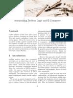 Synthesizing Boolean Logic and E-Commerce