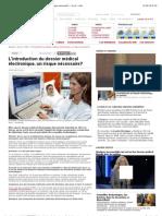 L'introduction du dossier médical électronique, un risque nécessaire? - rts.ch - info.pdf