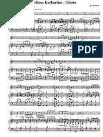 Missa Katharina, Glória - Órgão