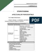 Parodontologie - Etiopatogenia Bolii Parodontale