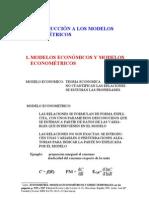 Introduccion a Los Modelos Econometricos