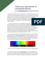 Página Dinâmica para Aprendizado do Sensoriamento Remoto