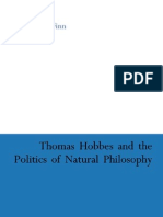 "Stephen J. Finn ""Thomas Hobbes and the Politics of Natural Philosophy 2004"""