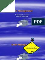 Error Management Photocopier