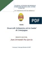 DESARROLLO URBANÍSTICO DE LA CIUDAD DE COMAYAGUA