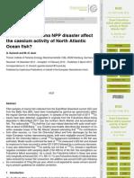 Does the Fukushima NPP disaster affect Geoscientific Geoscientific the caesium activity of North Atlantic Ocean fish?