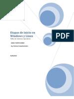 Etapas de Inicio en Windows y Linux