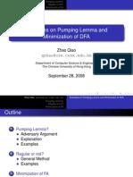Minimization of Dfa