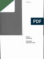 Zumthor Thinking Architecture 1998