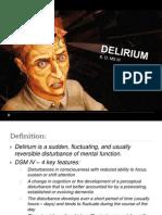 Delirium Presentation