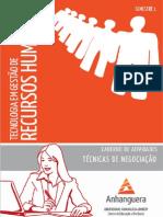 Cead 20131 Gestao de Recursos Humanos Pa - Gestao de Recursos Humanos - Tecnicas de Negociacao - i (Dmi766) Caderno de Atividades Impressao Tecnicas de Negociacao