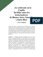Documentos Históricos - Pacto del Pilar (1820)