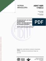 ABNT NBR 17505-4 - Armazenamento de líquidos inflamáveis