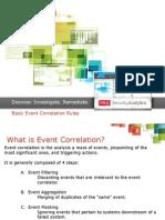 Basic Event Correlation Rules
