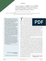 Cost-Effective Analysis of SBRT vs. IMRT.