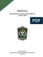 Proposal Rabat Beton Desa Padang 2012