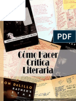 Cómo hacer crítica literaria - David Foster Wallace