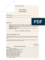 Pauta de Evaluacion Diagnostica Pimer Nivel de Transicio