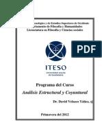Analisis Estructural y Coyuntural-Primavera 2012