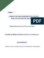 Codigo Procedimientos Civiles Michoacan
