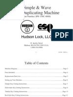 Dimple & Wave Key Duplicating Machine BW 339C Instructions